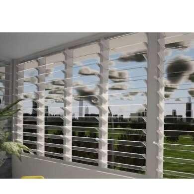 WDMA Aluminum Frame 6mm Glass Louvre Windows For Bathroom Sale
