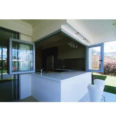 WDMA Aluminum Horizontal Folding Glass Corner Window Home Use