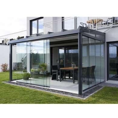 WDMA Aluminum Prefabricated Conservatory Glass House For Sell