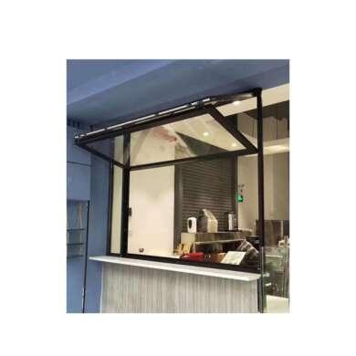 WDMA Aluminum Storefront Vertical Hinged Sliding Bi-folding Single Glazed Windows