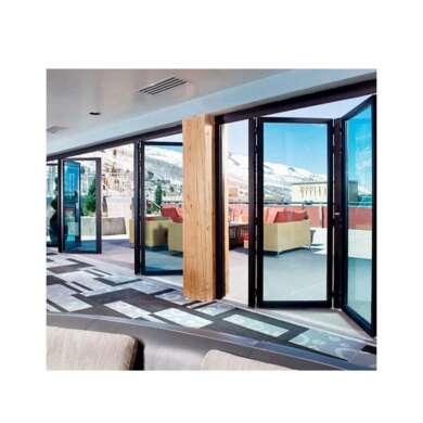 WDMA Aluminum Veranda Bifolding Sliding Door From China Factory