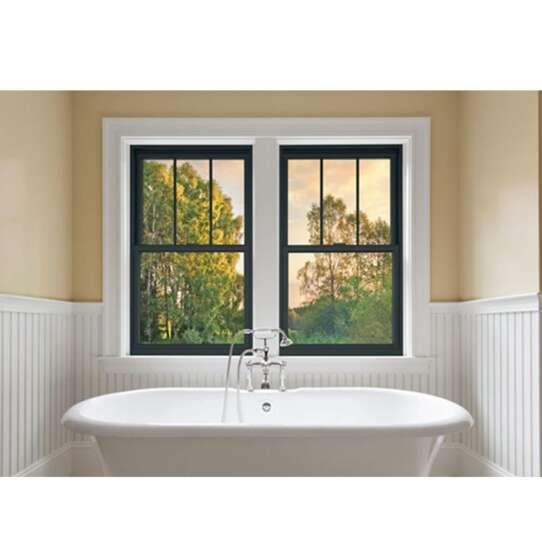 China WDMA decorative glass window style Aluminum Wood Single Hung Window