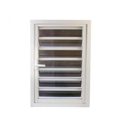 WDMA Anodized Aluminium Window With Glass Shutter For Balcony