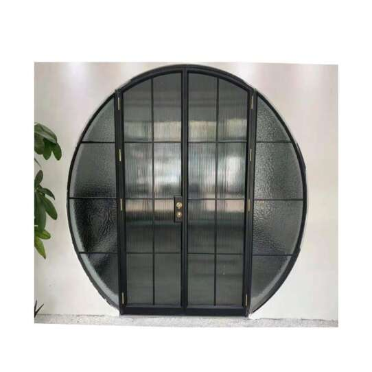 WDMA Arch Top Oval Tempered Stained Glass Office Casement Overhead Door Window Aluminum Inserts Mechanism