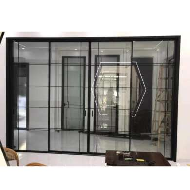 WDMA As2047 Automatic Decorative Grilles Sliding Doors System