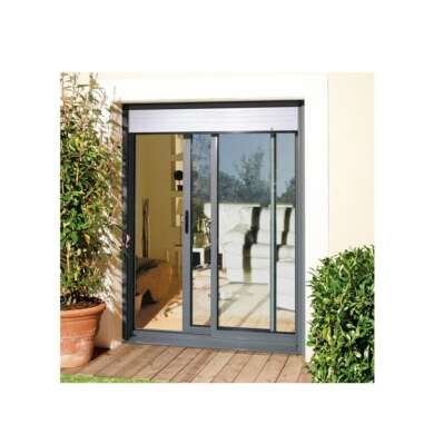 WDMA Australia Commercial System Aluminum Frame Sliding Door With Stainless Steel Security Grill Cheap Sliding Door