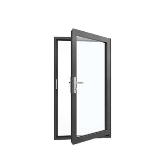 WDMA Automatic Aluminium Frame Exterior Storefront Swing Glass Door System Price