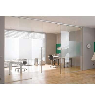 WDMA Automatic Frameless Aluminium Sliding Patio Door System