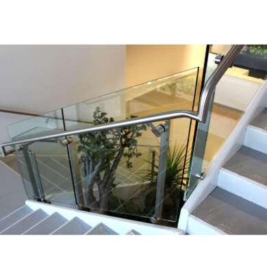 WDMA Balcony Polish Stainless Steel Glass Railing Balustrade Handrail Baluster Systems Design