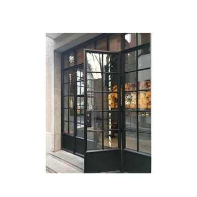 WDMA Broken-bridge Aluminum Alloy One Way Restaurant Hanging Glass Kitchen Door