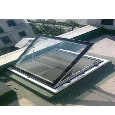WDMA Bronze Anodized Aluminum Energy Efficient Sky Light Window Flat Roof Window Price