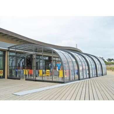 WDMA Canteen Cafe Enclosures Sunroom Enclosures Sunhouse Retractable Commercial Enclosures