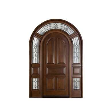 WDMA Carved Exterior Double Leaf Wooden Entry Doors Design Direct by China