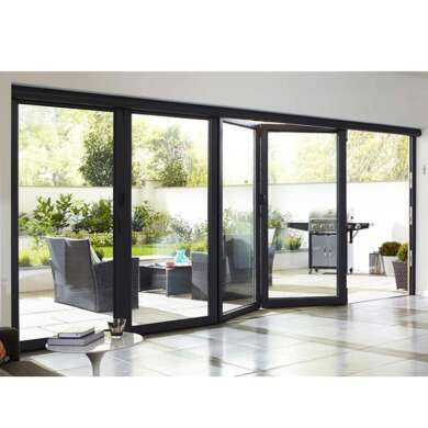 WDMA China Best Design Aluminum 4 Panel Bi Folding Patio Storm Door