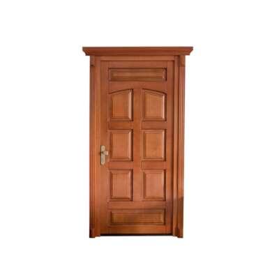 WDMA China Factory Indonesia Wooden Single Door Flower Design Teak Wood Main Door