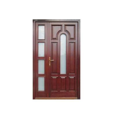 WDMA China Factory Semi Solid Wooden Door Plywood Doors
