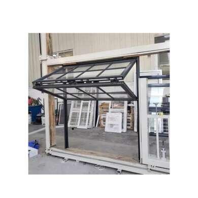 WDMA China Standard America Style Aluminum Folding Up Open Restaurant Glass Vertical Folding Window