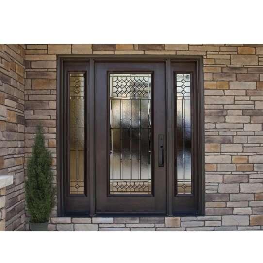 China WDMA China Used Customized Economy Ethiopia Stainless Steel Metal Frame Glass Door