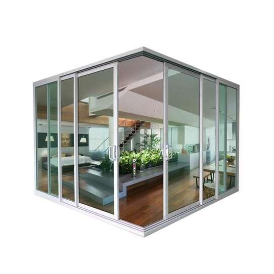 China WDMA Chinese Soundproof 3 Panel Corner Sliding Patio Door Mirror Design Price
