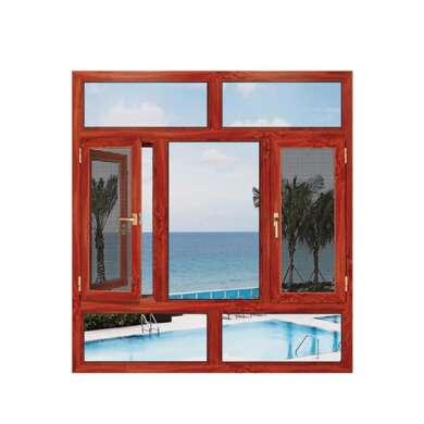 WDMA Comercial White New Hopper Impact Double Bubble Glass Glass Wire Mesh Airproof Window Aluminium Casement Window Grill Burglar Pr