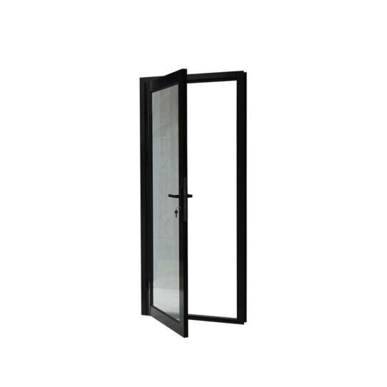 WDMA Commercial Exterior Aluminium Single French Panel Room Front Glass Entry Door And Frame Half Glass