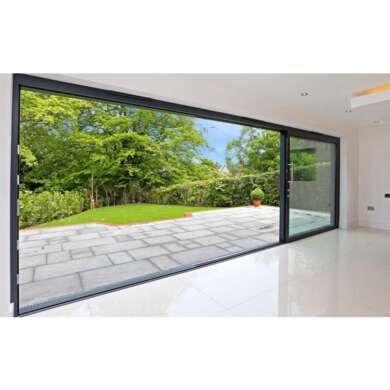 WDMA Commercial Glass Doors Low-e Patio Doors Sliding Door With Grid