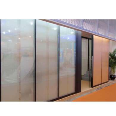 WDMA Cost Of Floor To Ceiling Aluminium Sliding Glass Partition Wall With Detail Dwg