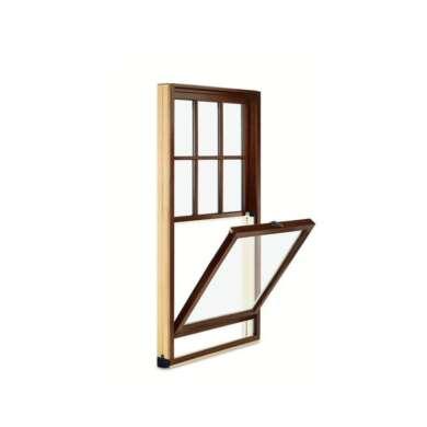 WDMA Custom Design Aluminum Clad Wood Single Hung Window Classic Design For Villa Building Project