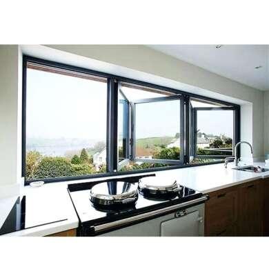 WDMA Double Glazed Horizontal Aluminum Corner Bi Folding Balcony Glass Window And Door