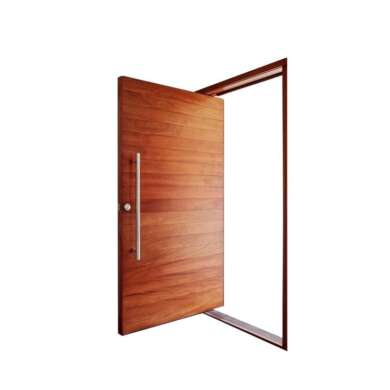 WDMA Elegant Painted Surface Glass Wooden Pivot Entry Doors