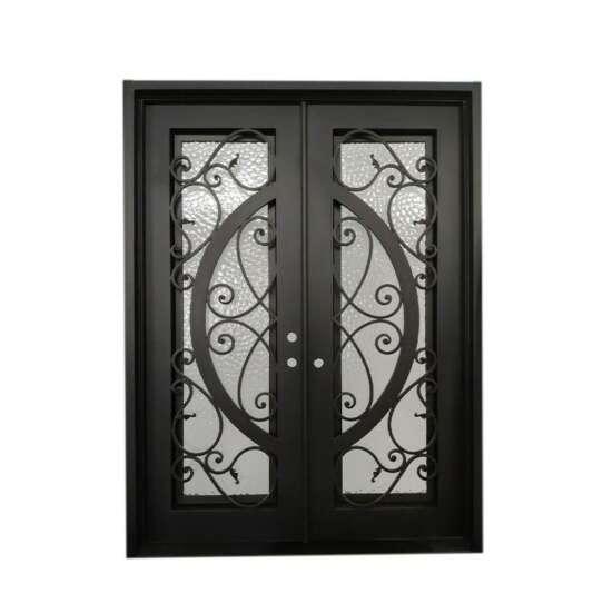 WDMA double door iron gates elegant iron door