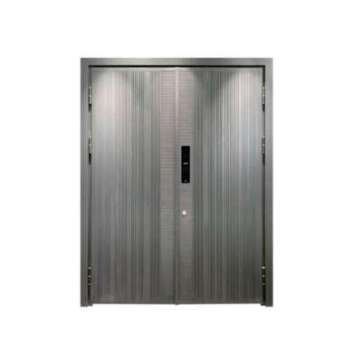 WDMA Exterior Entrance Luxury Front Wood Grain French Door Aluminium Villa Door