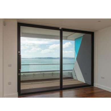 WDMA Exterior Remote Control Open Commercial Large Aluminium Glass Sliding Door