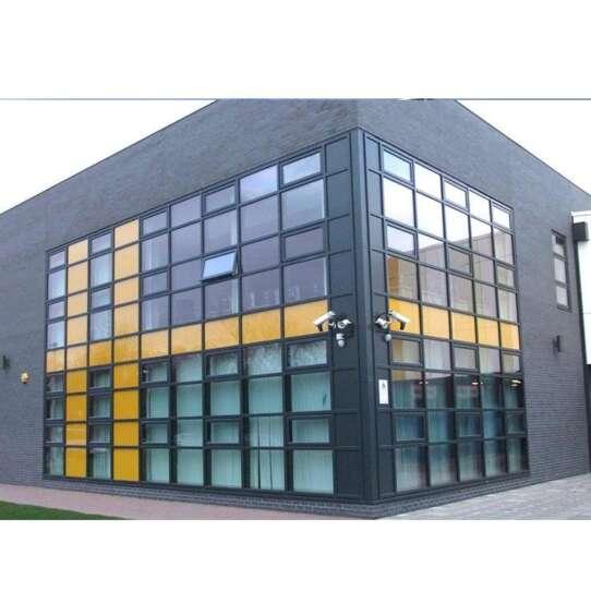 WDMA Fabric Cheap Exposed Frame Low- E glass Aluminium Curtain Wall Design