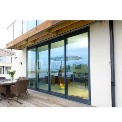 WDMA Factory Supplying Lift Sliding Door Leaded Glass French Doors Jalousie Storm