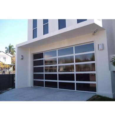 WDMA Finished Surface Remote Control Smart Sliding Stacking Garage Door