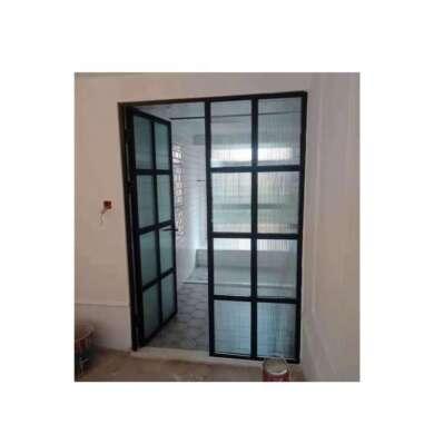 WDMA Frameless Slimline Aluminium Frame Glass French Swing Casemen Doors