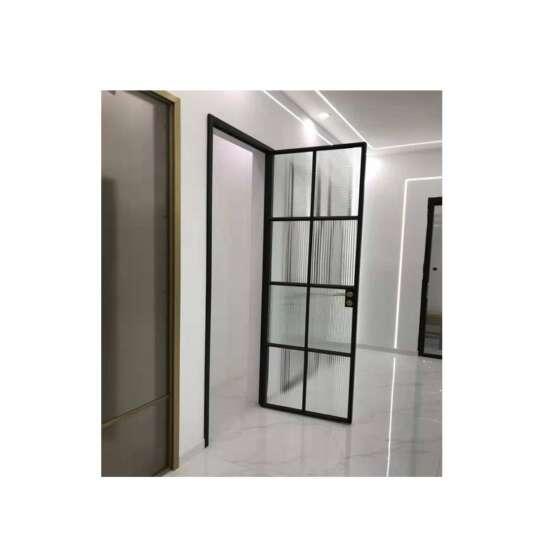 China WDMA Aluminum Frame Glass Swing Door