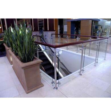 WDMA Glass Fixing Moule Balustrade Modular Railing System Side Mount Parapet Railing Design