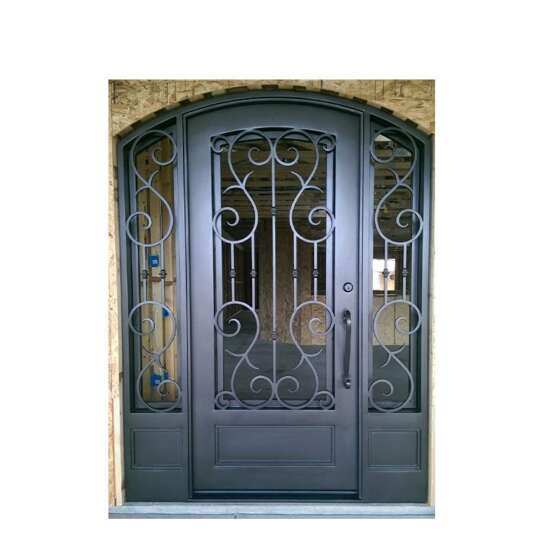 China WDMA Wrought Iron Front Entry Door