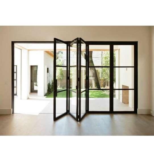 WDMA Bi Fold Glass Panel Doors Interior 84x80