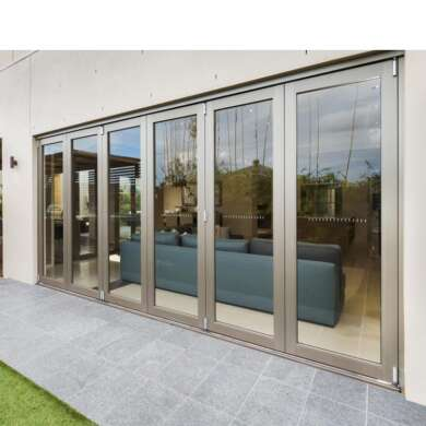 WDMA Hurricane Approve Outdoor Industrial Folding Glass Doors