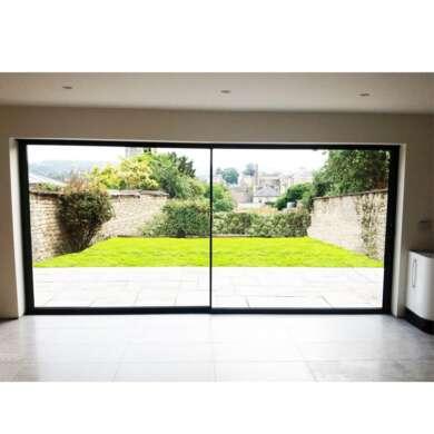 WDMA Hurricane Impact Large Patio Slimline Sliding Glass Doors With Retractable Screen