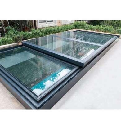 WDMA Hurricane Proof Soundproof Double Glazed Tempered Glass Flat Skyview Roof Window And Door Balcony