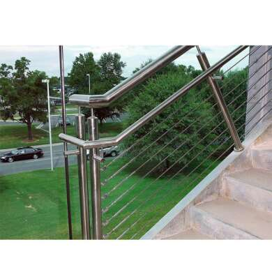 WDMA Indoor Metal Stainless Steel Wire Staircase Railing Balustrade Handrail Design