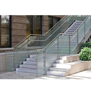 WDMA Inox 10mm Thick Frameless Embedded Glass Balcony Railing U Channel Tempered Glass Balustrade Railing Design For Terrace And Pati