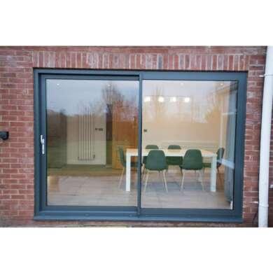 WDMA Interior Aluminium Framed Sliding Frosted Glass Barn Door For Bedroom