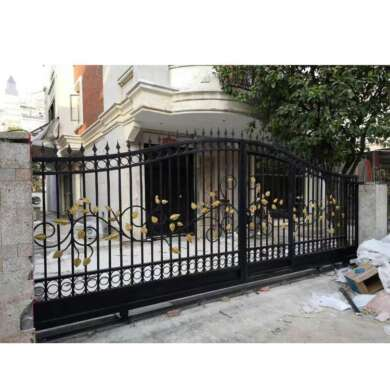 WDMA Italian Style Big Wrought Iron Front Sliding Door Gate Design For Sale