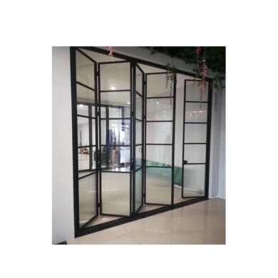 WDMA Luxury Design Double Glazing Soundproof Folding Doors Transparent In Pakistan