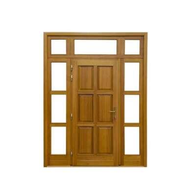 WDMA Mahogany Solid Wood Front Door Carving Design